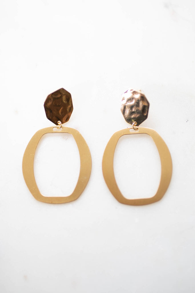 You + Me Earrings - Gold