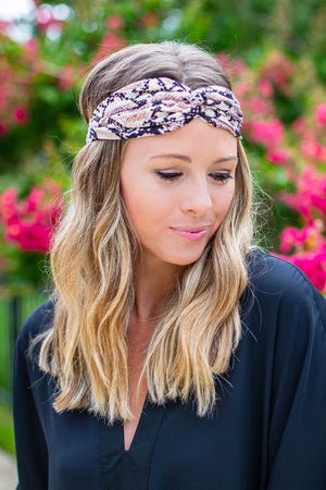 Twist It Headband- Snakeskin - A Cut Above Boutique
