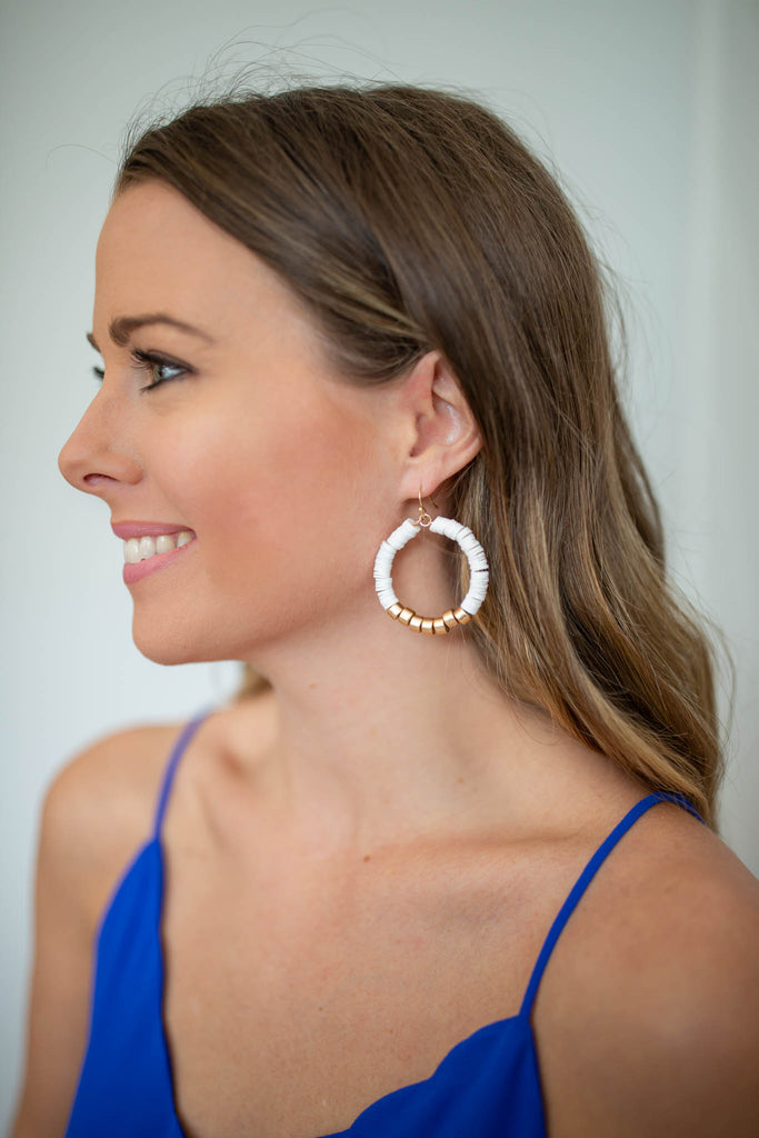 Rock The Night Earrings - White - A Cut Above Boutique