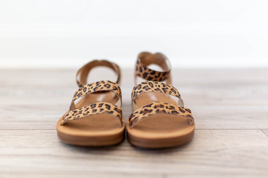 The Maddy Sandal- Leopard - A Cut Above Boutique