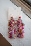 Pink Pom Pom Dangle - A Cut Above Boutique