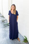 Just Stay Maxi Dress - Navy