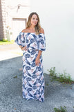 Into The Garden Off The Shoulder Maxi - A Cut Above Boutique