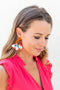 Fan Floral Earring - Orange