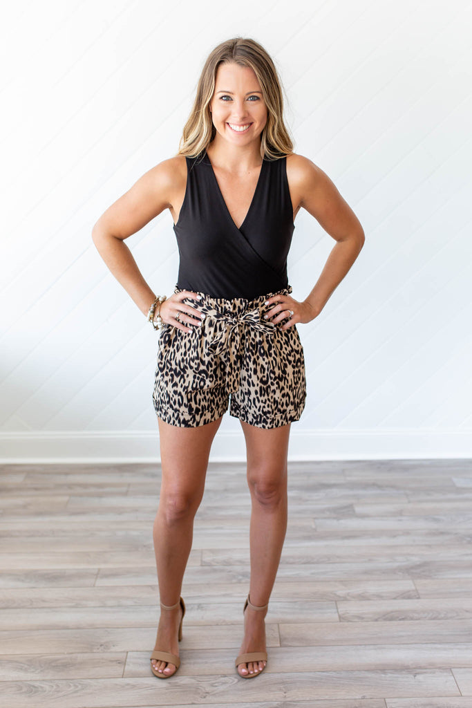 Puurrfect High Waisted Leopard Shorts