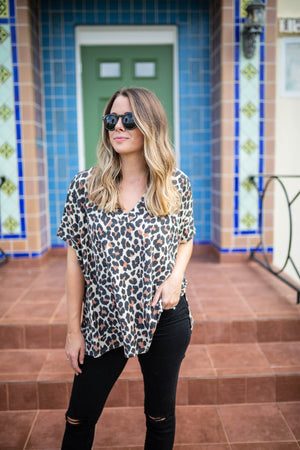 So Spotted Leopard Top