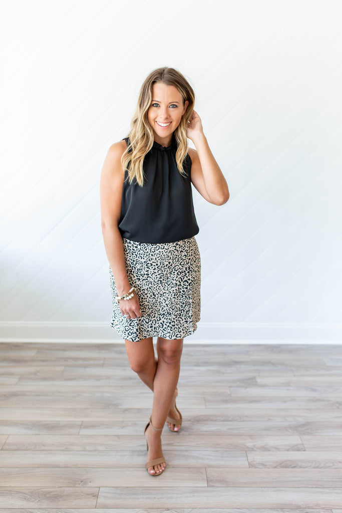 Wanna Know Leopard Mini Skirt