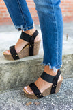 City Of Dreams Wedge - Black - A Cut Above Boutique