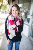 Hold On Stripe Blanket Scarf - Pink - A Cut Above Boutique