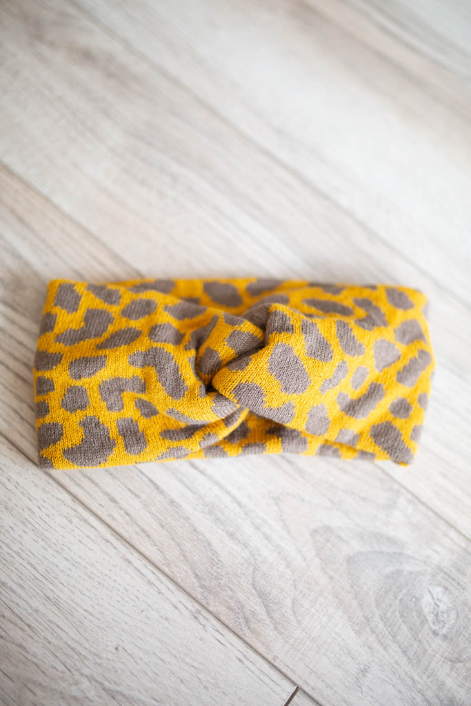 Twist-Front Headwrap - Leopard - A Cut Above Boutique