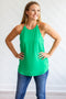 Scallop Tank - Kelly Green