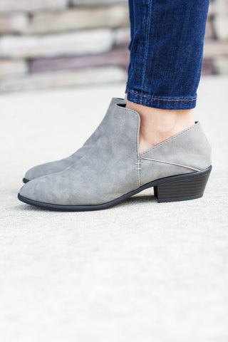 Run The Streets Grey Bootie