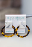 Marble + Tortoise Earring - A Cut Above Boutique