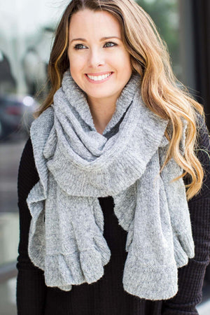 Ruffle Up Scarf - Grey