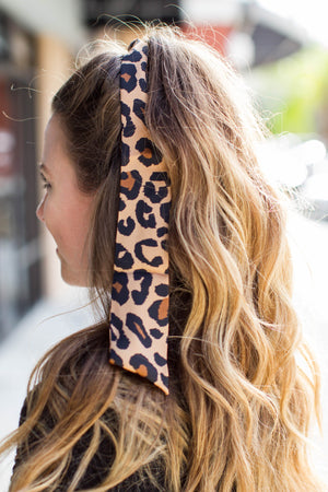 Leopard Hair Scarf - A Cut Above Boutique
