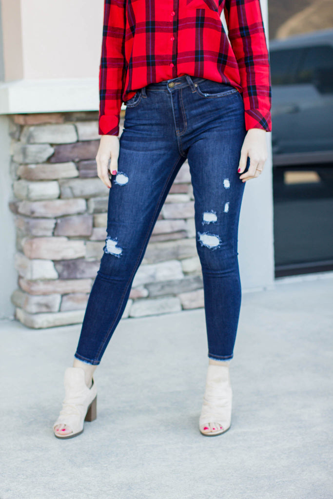 Coast On Over Distressed Jean - A Cut Above Boutique