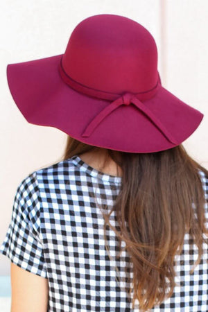 City Girl Floppy Hat – Burgundy - A Cut Above Boutique