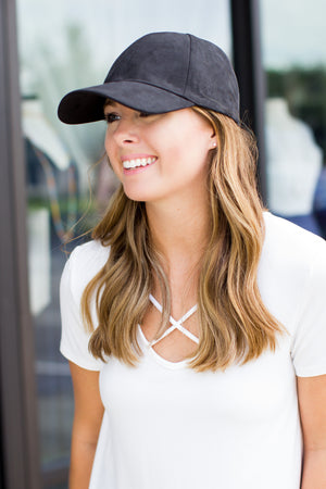 Suede Baseball Hat (Multiple Colors) - A Cut Above Boutique