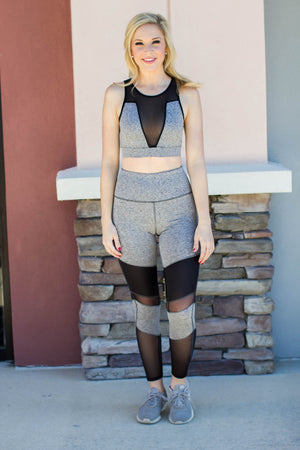 Two Time Legging - Grey - A Cut Above Boutique