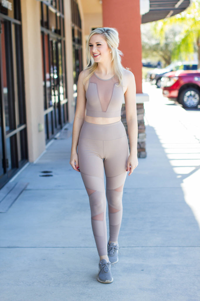 On The Run Legging - Mocha - A Cut Above Boutique