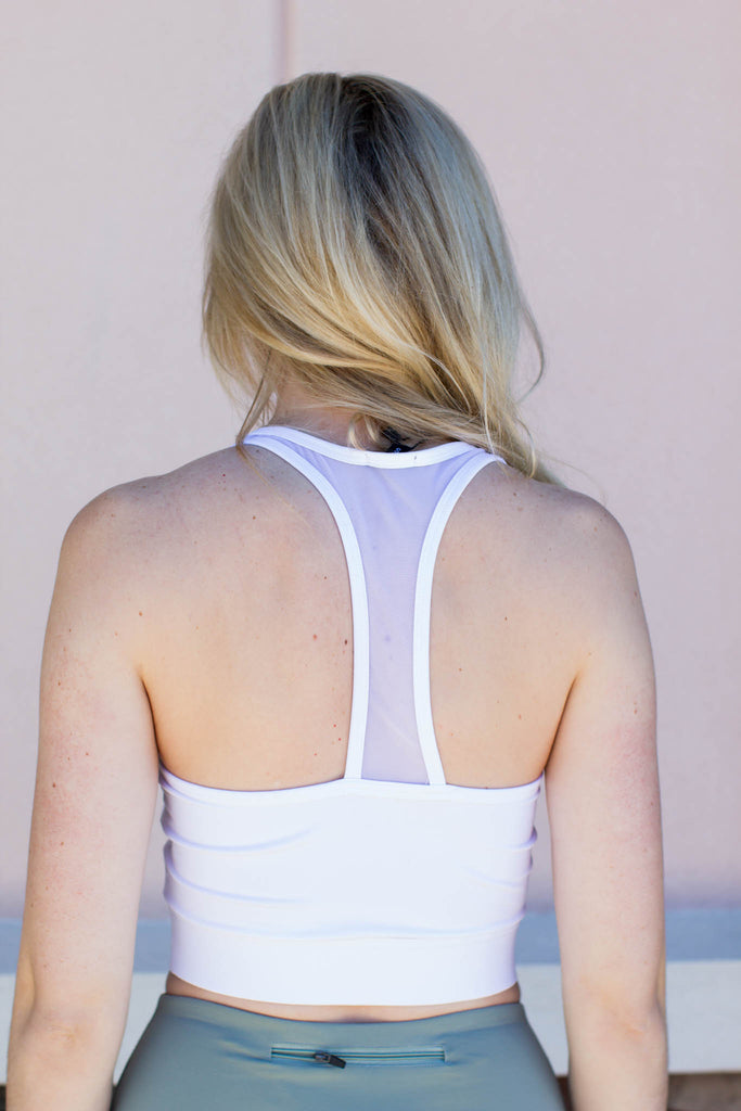 Get On It Sports Bra - White - A Cut Above Boutique