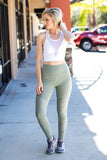 On The Run Legging - Olive - A Cut Above Boutique