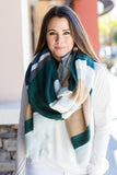 Hold On Stripe Blanket Scarf - Green - A Cut Above Boutique