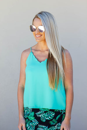 Take It Scallop Tank - Aqua