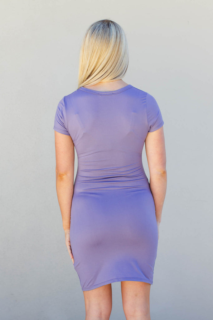 Time Keeper Ruched Dress - Lavender