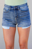 Cuffed High Rise Medium Wash Shorts - A Cut Above Boutique