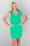 Miss Preppy Tie Shoulder Dress - Kelly Green