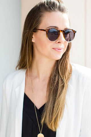 I Want It Round Tortoise Sunglasses - A Cut Above Boutique