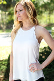Scallop Tank - White
