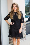 My Best Night Lace Dress - Black - A Cut Above Boutique