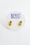 Petite Pineapple Enamel Stud Earrings