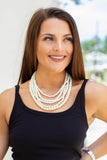 Multi-Layered Pearl Necklace - A Cut Above Boutique