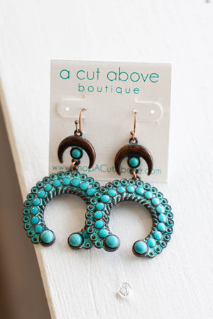 Blossom Earrings - Turquoise - A Cut Above Boutique