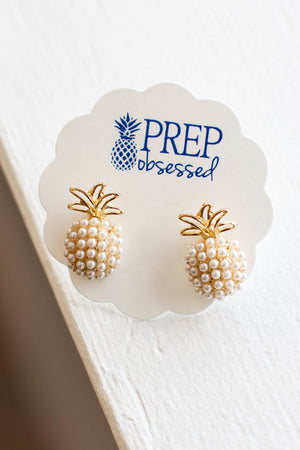 Pineapple Pearl Pop Studs - A Cut Above Boutique