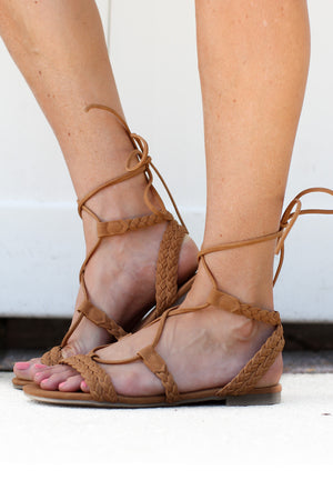 Tied Just Right Sandal - A Cut Above Boutique