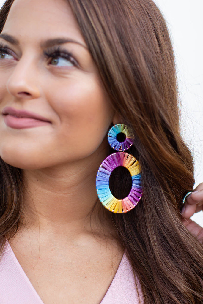Now You See Me Earrings - Tie Dye - A Cut Above Boutique