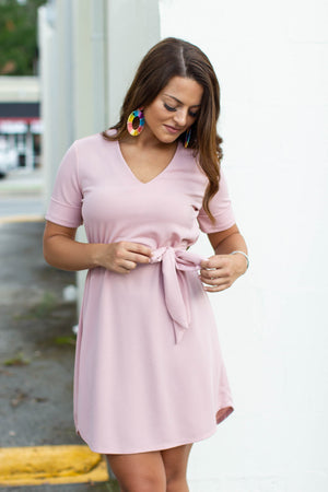Back To Work Dress - Blush - A Cut Above Boutique