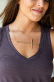 X-Large Statement Sideways Cross Necklace - A Cut Above Boutique