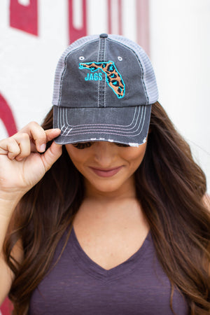 Leopard JAGS Trucker Hat - A Cut Above Boutique