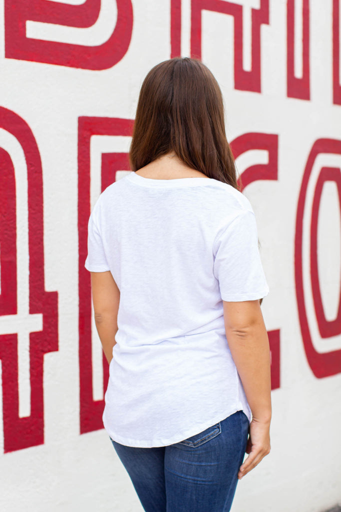 Z Supply: The Cotton Slub Pocket Tee - White - A Cut Above Boutique