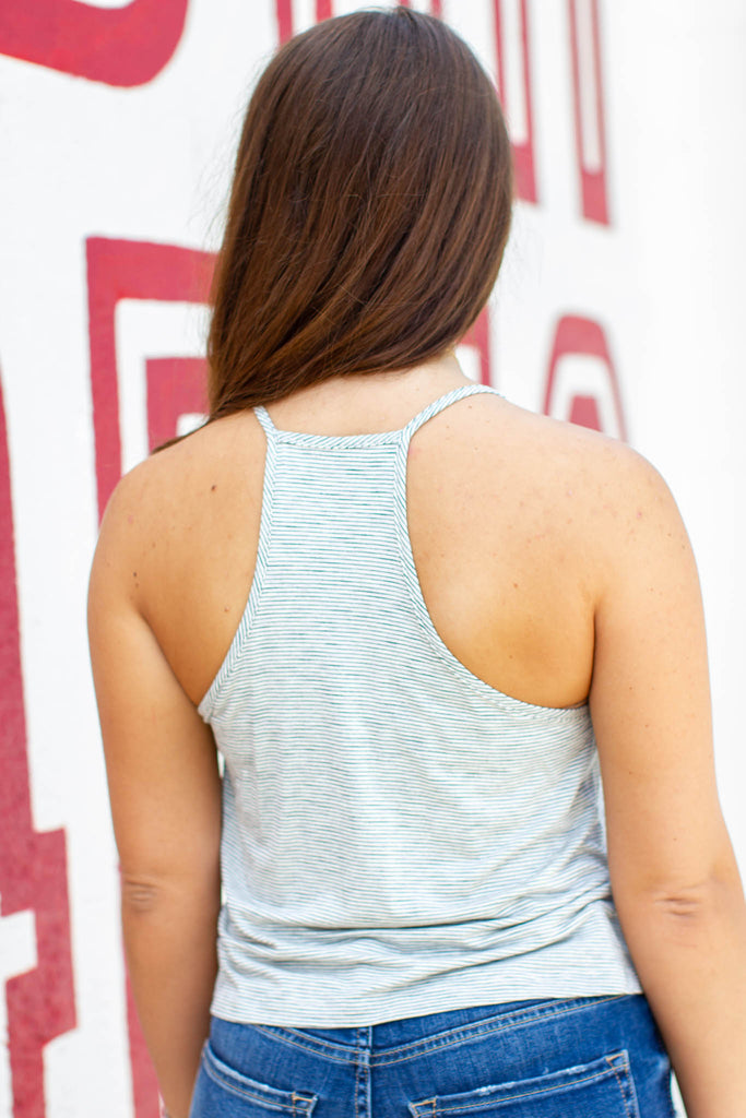 Easy Day Crop Tank - Light Gray