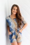 Tie Dye Lounge Top + Shorts SET - A Cut Above Boutique