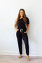 One Shoulder Victory Jumpsuit - Black
