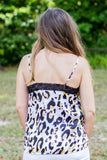 Leopard Lace Tank - Ivory Multi - A Cut Above Boutique