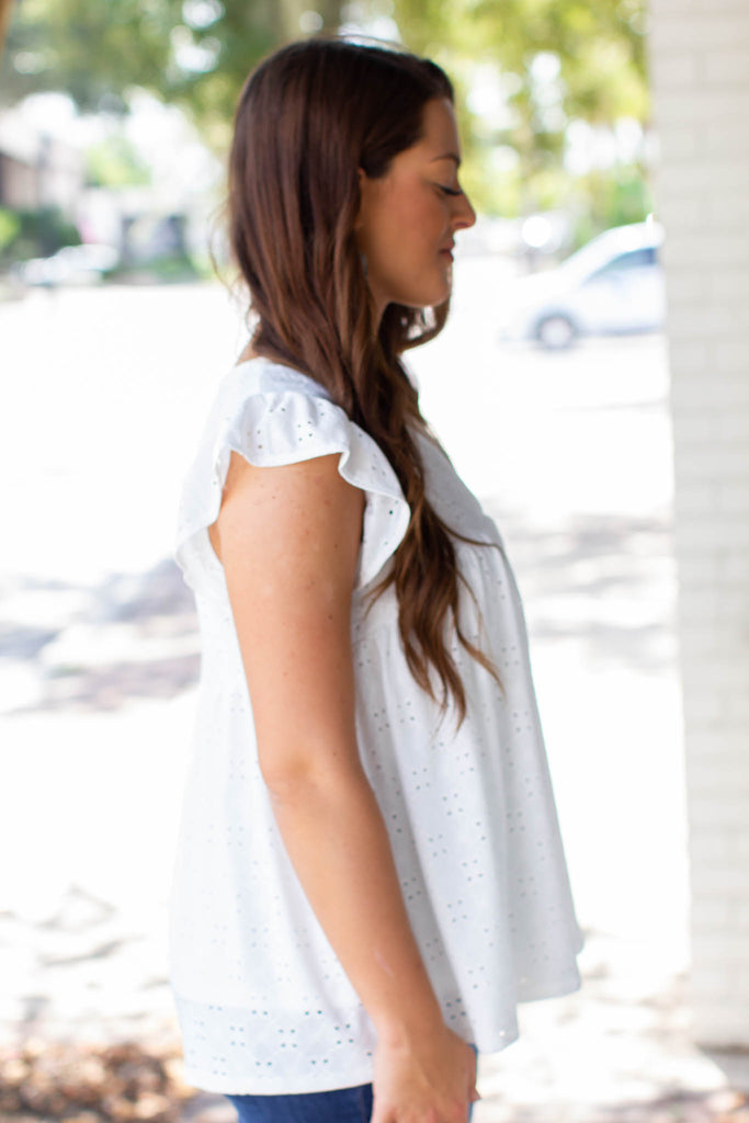 Proper Eyelet Lace Top - White