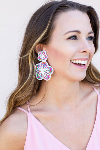 Flower Power Earrings - A Cut Above Boutique